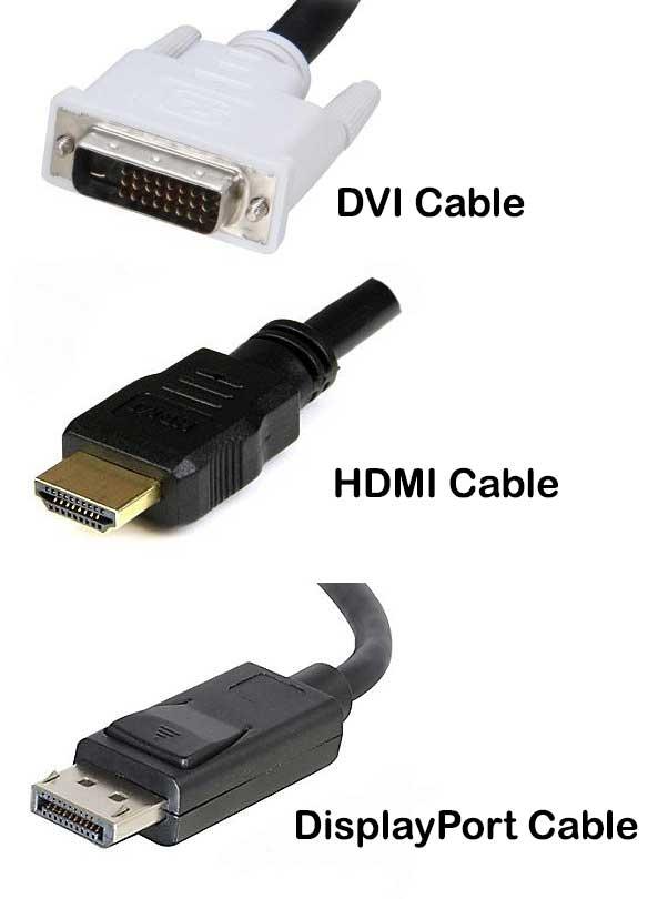 DVI vs. HDMI vs. DisplayPort