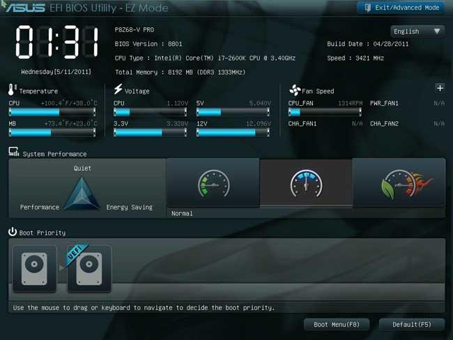 UEFI Screen