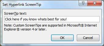 Edit Hyperlink text