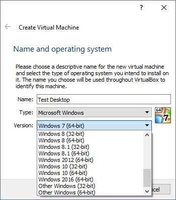 VirtualBox OS