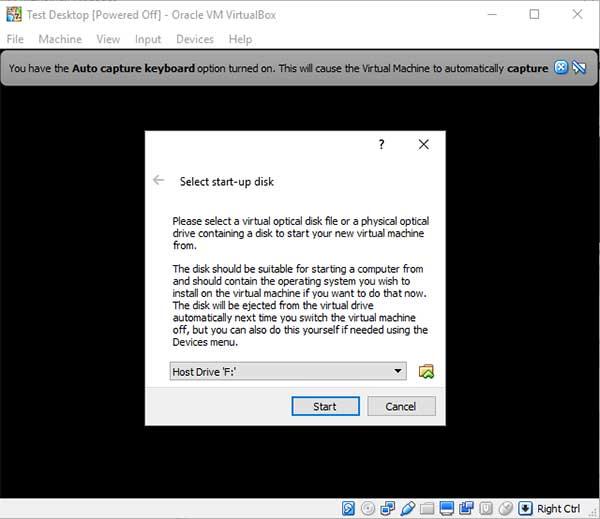 VirtualBox install OS