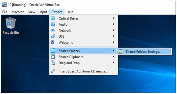 VirtualBox Shared Folders