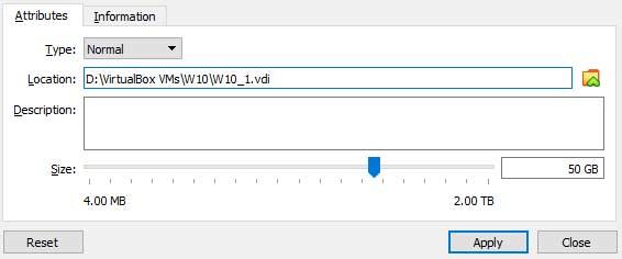 VirtualBox Resize Hard Disk