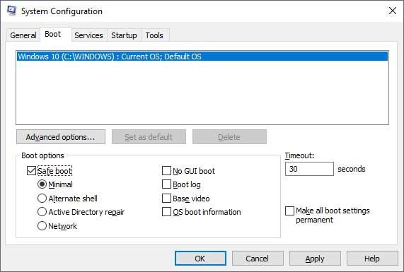 msconfig system configuration
