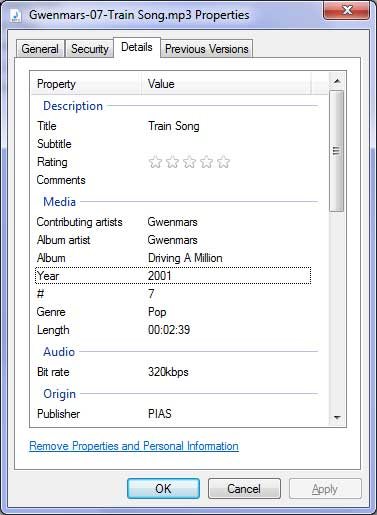 MP3 Tag Information