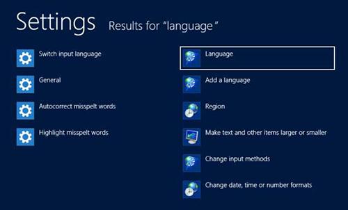 Windows 8 Language Options