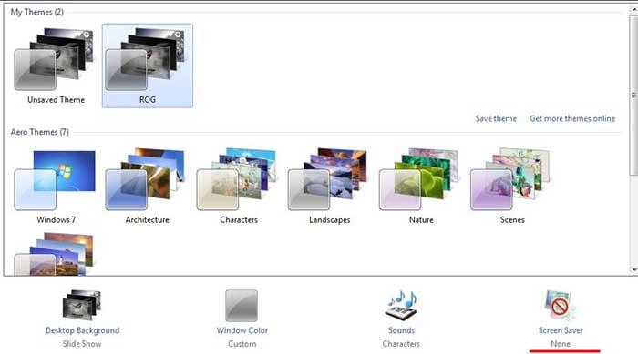 Windows 7 & 8 personalization settings