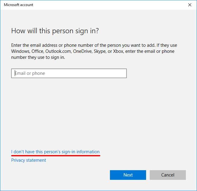 Create Windows 10 Local User Account