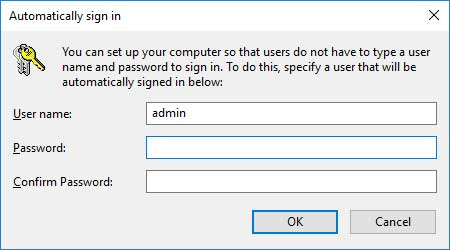 Windows Automatic Sign in