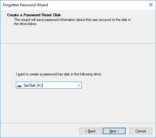 Windows Password Reset Disk