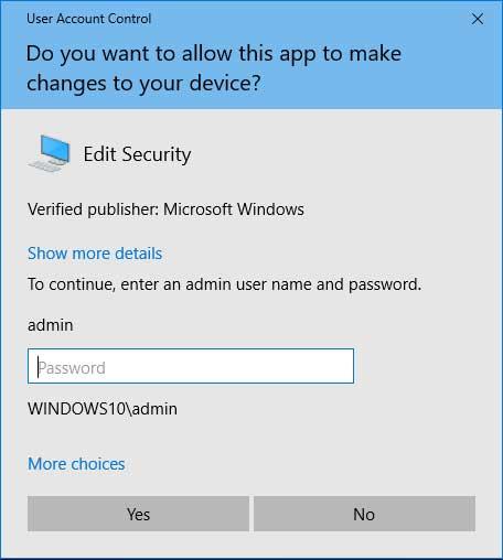 UAC Edit Security