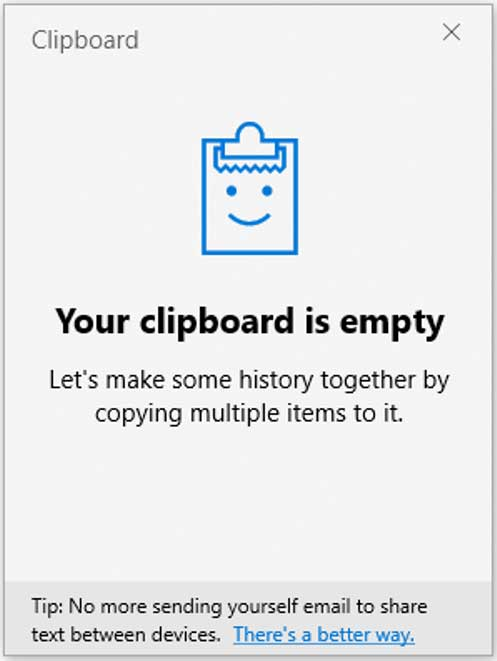 Windows Clipboard History